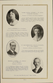 Page 16, 1917 Edition, Carthage College - Crimson Rambler Yearbook (Carthage, IL) online yearbook collection