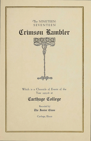 Page 2, 1917 Edition, Carthage College - Crimson Rambler Yearbook (Carthage, IL) online yearbook collection