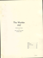 Page 7, 1957 Edition, Eastern Illinois University - Warbler Yearbook (Charleston, IL) online yearbook collection
