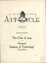 Page 5, 1923 Edition, Armour Institute of Technology - Cycle Yearbook (Chicago, IL) online yearbook collection