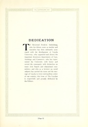 Page 11, 1925 Edition, Loyola University Chicago - Loyolan Yearbook (Chicago, IL) online yearbook collection