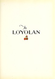 Page 9, 1928 Edition, Loyola University Chicago - Loyolan Yearbook (Chicago, IL) online yearbook collection