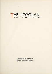 Page 11, 1933 Edition, Loyola University Chicago - Loyolan Yearbook (Chicago, IL) online yearbook collection