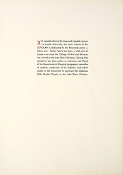 Page 14, 1933 Edition, Loyola University Chicago - Loyolan Yearbook (Chicago, IL) online yearbook collection