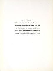 Page 12, 1936 Edition, Loyola University Chicago - Loyolan Yearbook (Chicago, IL) online yearbook collection
