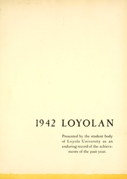 Page 5, 1942 Edition, Loyola University Chicago - Loyolan Yearbook (Chicago, IL) online yearbook collection