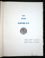 Page 5, 1958 Edition, Loyola University Chicago - Loyolan Yearbook (Chicago, IL) online yearbook collection