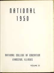 Page 5, 1950 Edition, National Louis University - National Yearbook (Chicago, IL) online yearbook collection