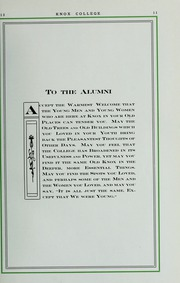 Page 15, 1913 Edition, Knox College - Gale Yearbook (Galesburg, IL) online yearbook collection