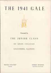 Page 7, 1941 Edition, Knox College - Gale Yearbook (Galesburg, IL) online yearbook collection