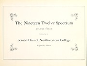 Page 7, 1912 Edition, North Central College - Spectrum Yearbook (Naperville, IL) online yearbook collection