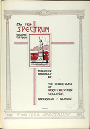 Page 10, 1924 Edition, North Central College - Spectrum Yearbook (Naperville, IL) online yearbook collection