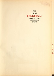 Page 5, 1931 Edition, North Central College - Spectrum Yearbook (Naperville, IL) online yearbook collection
