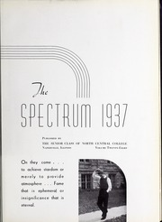 Page 7, 1937 Edition, North Central College - Spectrum Yearbook (Naperville, IL) online yearbook collection