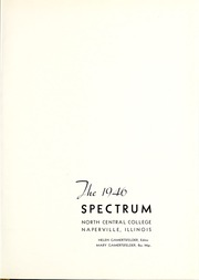 Page 5, 1946 Edition, North Central College - Spectrum Yearbook (Naperville, IL) online yearbook collection