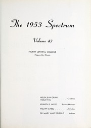 Page 5, 1953 Edition, North Central College - Spectrum Yearbook (Naperville, IL) online yearbook collection