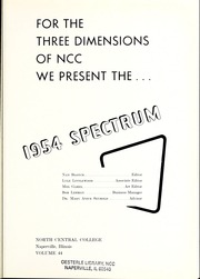 Page 5, 1954 Edition, North Central College - Spectrum Yearbook (Naperville, IL) online yearbook collection