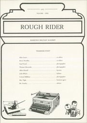 Page 5, 1972 Edition, Roosevelt Military Academy - Rough Rider Yearbook (Aledo, IL) online yearbook collection