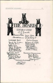 Page 11, 1910 Edition, Evanston Academy - Bear Yearbook (Evanston, IL) online yearbook collection