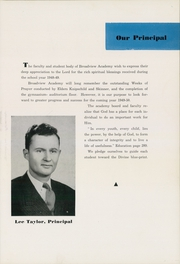 Page 11, 1949 Edition, Broadview Academy - Encore Yearbook (La Grange, IL) online yearbook collection