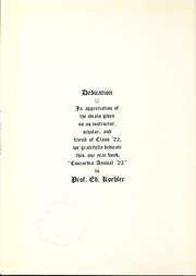 Page 10, 1922 Edition, Concordia University Chicago - Pillars Yearbook (River Forest, IL) online yearbook collection