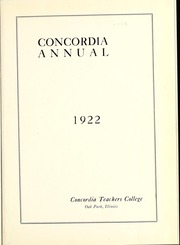 Page 7, 1922 Edition, Concordia University Chicago - Pillars Yearbook (River Forest, IL) online yearbook collection