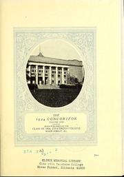 Page 9, 1924 Edition, Concordia University Chicago - Pillars Yearbook (River Forest, IL) online yearbook collection