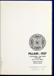 Page 7, 1957 Edition, Concordia University Chicago - Pillars Yearbook (River Forest, IL) online yearbook collection