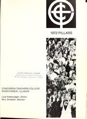Page 5, 1972 Edition, Concordia University Chicago - Pillars Yearbook (River Forest, IL) online yearbook collection