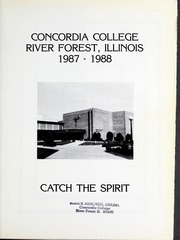Page 5, 1988 Edition, Concordia University Chicago - Pillars Yearbook (River Forest, IL) online yearbook collection