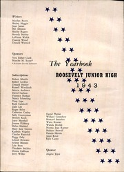 Page 6, 1943 Edition, Roosevelt Junior High School - Yearbook (Rockford, IL) online yearbook collection
