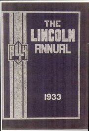 Abraham Lincoln Junior High School - Annual Yearbook (Rockford, IL) online yearbook collection, 1933 Edition, Page 1