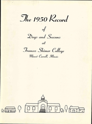 Page 9, 1950 Edition, Shimer College - Acropolis Yearbook (Mount Carroll, IL) online yearbook collection