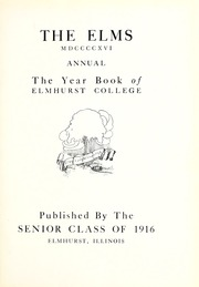 Page 7, 1916 Edition, Elmhurst College - Elms Yearbook (Elmhurst, IL) online yearbook collection