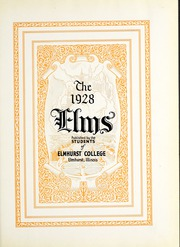 Page 7, 1928 Edition, Elmhurst College - Elms Yearbook (Elmhurst, IL) online yearbook collection