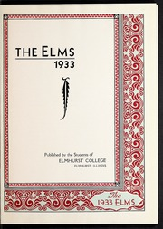 Page 5, 1933 Edition, Elmhurst College - Elms Yearbook (Elmhurst, IL) online yearbook collection