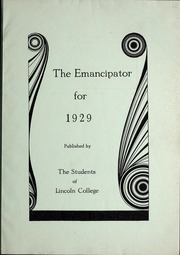 Page 3, 1929 Edition, Lincoln College - Lynxite Yearbook (Lincoln, IL) online yearbook collection