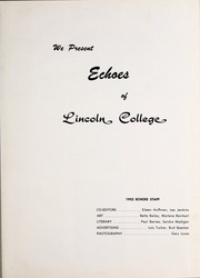 Page 5, 1952 Edition, Lincoln College - Lynxite Yearbook (Lincoln, IL) online yearbook collection