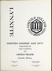 Page 5, 1960 Edition, Lincoln College - Lynxite Yearbook (Lincoln, IL) online yearbook collection