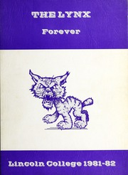 1982 Edition, Lincoln College - Lynxite Yearbook (Lincoln, IL)
