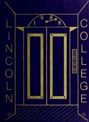 1988 Edition, Lincoln College - Lynxite Yearbook (Lincoln, IL)