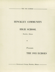 Page 7, 1951 Edition, Hinckley High School - Echoes Yearbook (Hinckley, IL) online yearbook collection