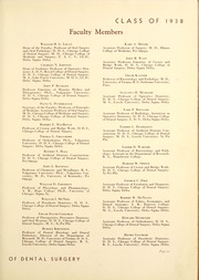 Page 17, 1938 Edition, Chicago College of Dental Surgery - Dentos Yearbook (Chicago, IL) online yearbook collection