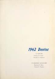 Page 5, 1942 Edition, Chicago College of Dental Surgery - Dentos Yearbook (Chicago, IL) online yearbook collection