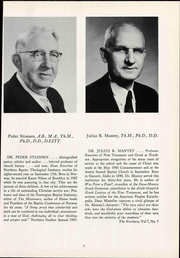 Page 13, 1961 Edition, Northern Baptist Theological Seminary - Yearbook (Lombard, IL) online yearbook collection