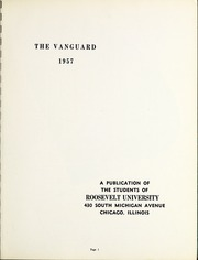 Page 5, 1957 Edition, Roosevelt University - Vanguard Yearbook (Chicago, IL) online yearbook collection