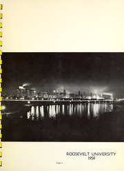 Page 3, 1959 Edition, Roosevelt University - Vanguard Yearbook (Chicago, IL) online yearbook collection