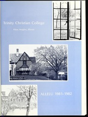 Page 5, 1982 Edition, Trinity Christian College - Allelu Yearbook (Palos Heights, IL) online yearbook collection