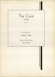 Page 7, 1932 Edition, Peoria High School - Crest Yearbook (Peoria, IL) online yearbook collection