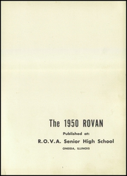 Page 5, 1950 Edition, Rova High School - Rovan Yearbook (Oneida, IL) online yearbook collection